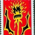 Les chardons en timbre poste