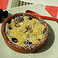 Clafoutis aux mres, sans gluten et sans lactose