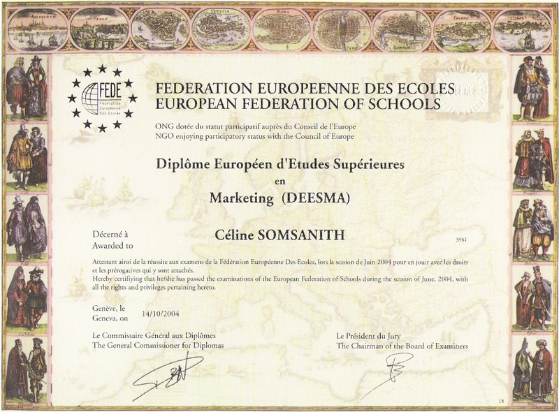deesma  diplome europeen d u0026 39 etudes superieures en marketing