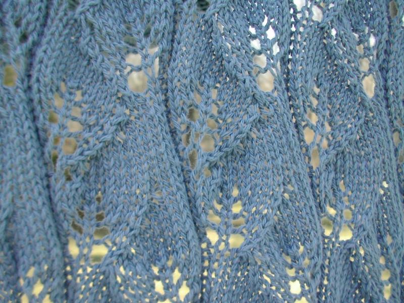 Lacy leaf scarf.