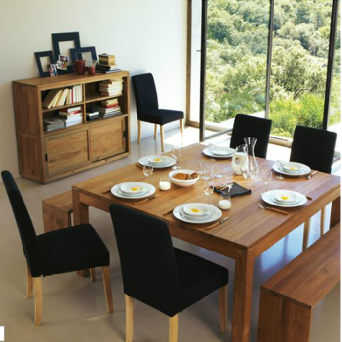 La table de repas carr e contemporaine mon nouveau kiff for Table 8 personnes dimension