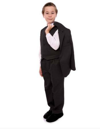 "Costume garçon ""ANTOINE"" noir 5 ans neuf"