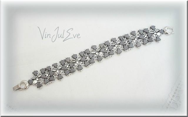 bracelet Mirano manchette gris argent argent 1