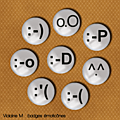 Freebie : badges smiley ...