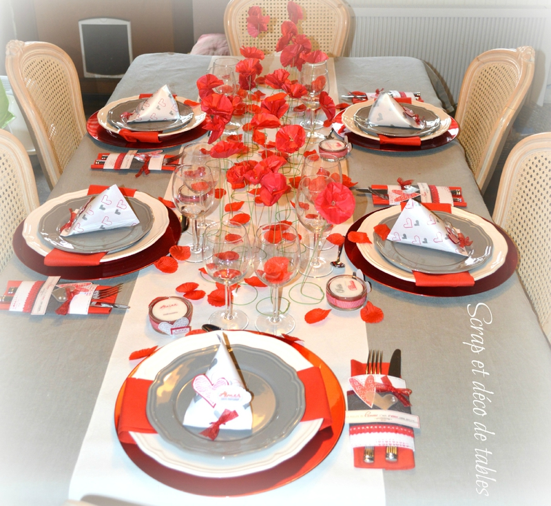 DECO DE TABLE SAINT-VALENTIN 2015 - Scrap et déco de tables