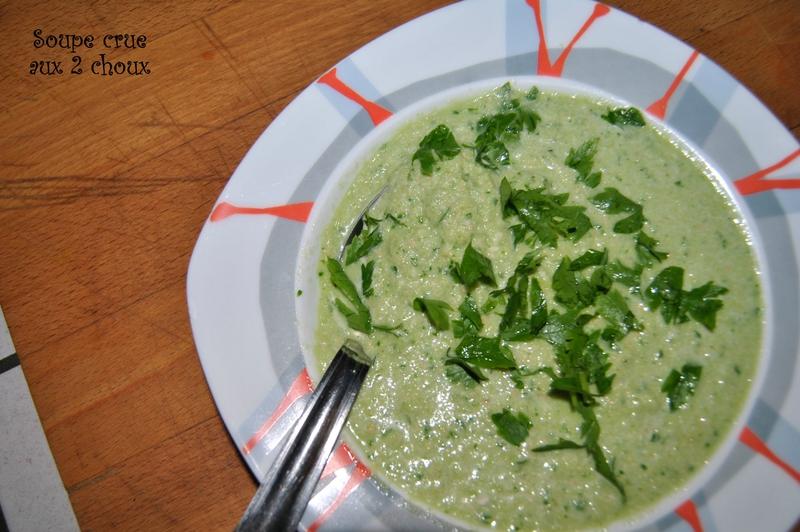 Soupe crue aux 2 choux
