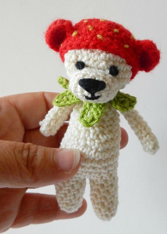 mini ours à la fraise - Anisbee