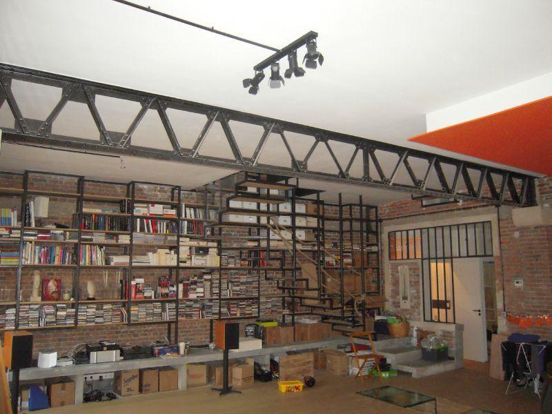 Bibliotheque esqualier atelier a coeur vaillant - Bibliotheque de bureau contemporain ...
