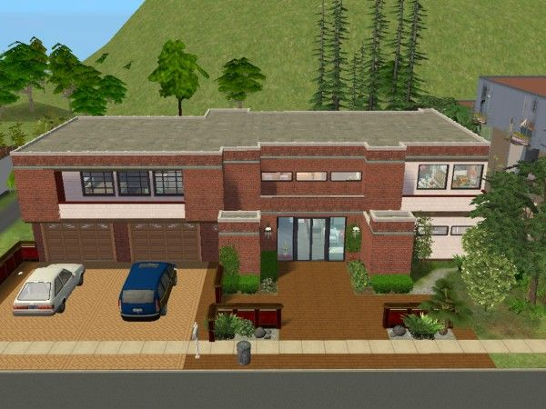 Plan maison sims 2 for Maison californienne plan
