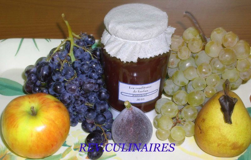 confiture de raisin r veries culinaires. Black Bedroom Furniture Sets. Home Design Ideas