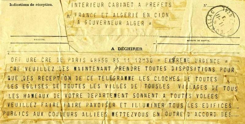 télégramme armistice