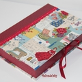 trousse couture femmes rouge
