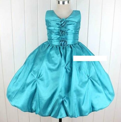 """robes de cérémonie turquoises neuves """"bleuet"""" différentes tailles"""