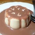 Panna cotta au café et coulis de chocolat