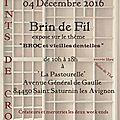 Exposition Brin de Fil 2016