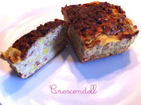 Cake poireaux & lardons de volaille