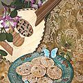 Amandines fruitées à la Helva et citron