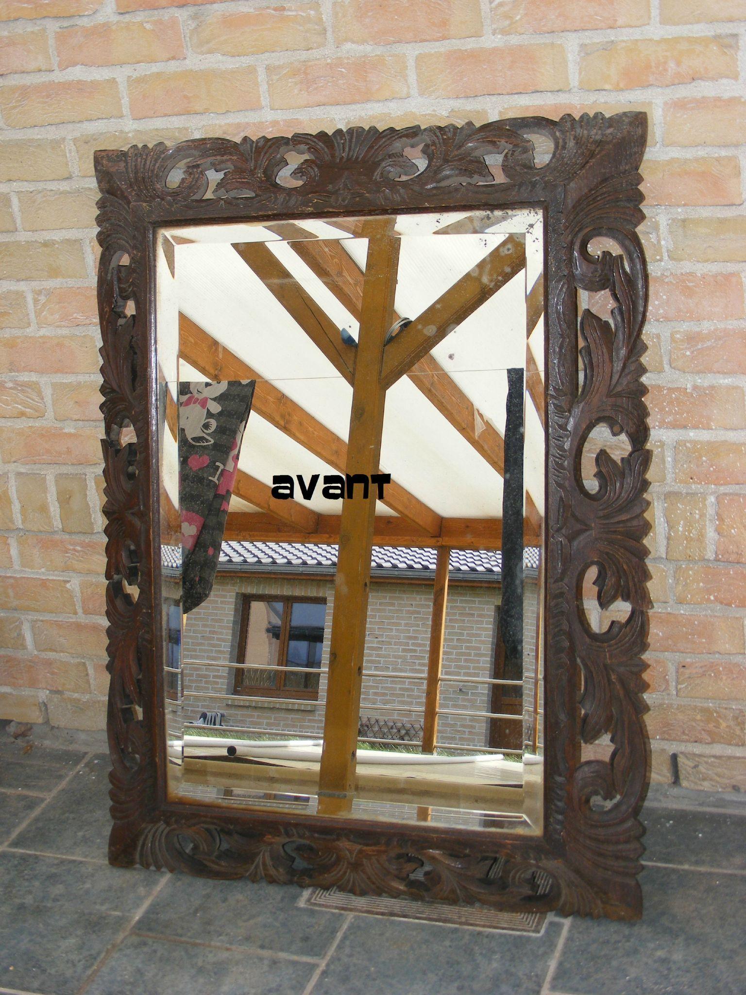 un tr s beau miroir ancien acheter dans une patine relookage de meubles. Black Bedroom Furniture Sets. Home Design Ideas
