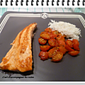 Pavé de saumon et ses tomates cerises caramélisées au miel
