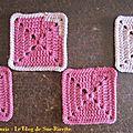 Pink square blanket #6