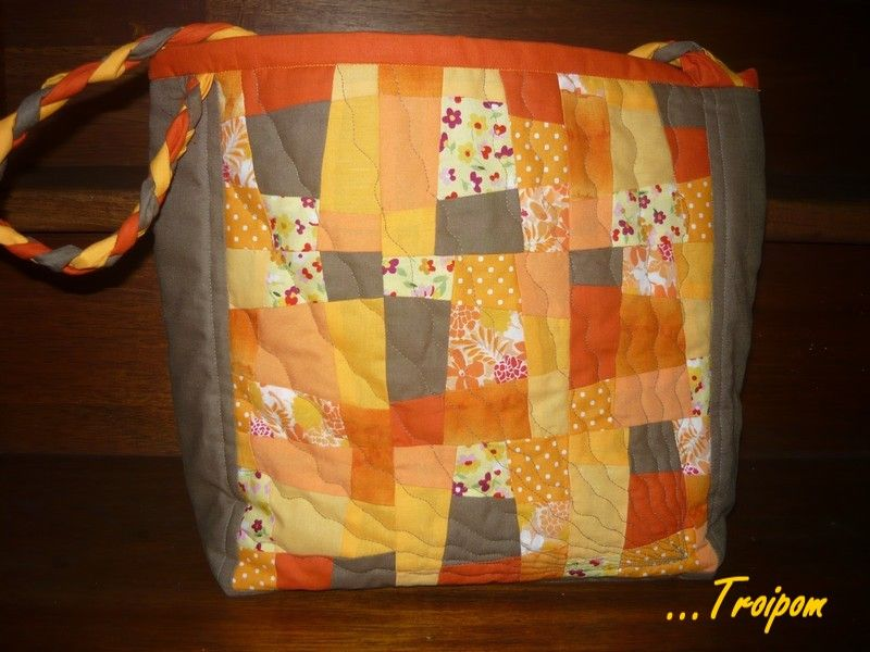 Sac En Patchwork Crazy Nine Patch La Couture De Troipom