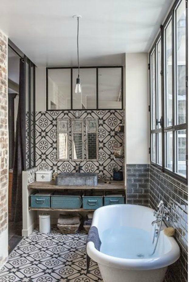 l 39 atelier des tilleuls les carreaux ciment dans une salle de bains. Black Bedroom Furniture Sets. Home Design Ideas