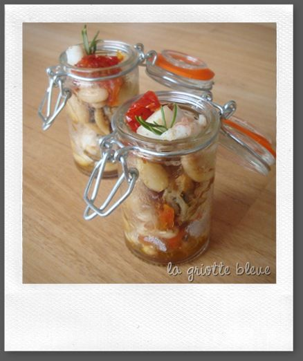 verrine de coquillages aux coco