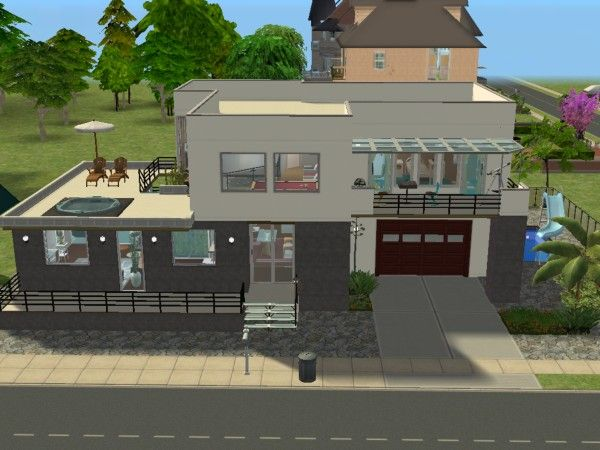 Miami road maisons deco sims2 for Modele maison sims 2