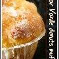 Sugar vanille donuts muffins.