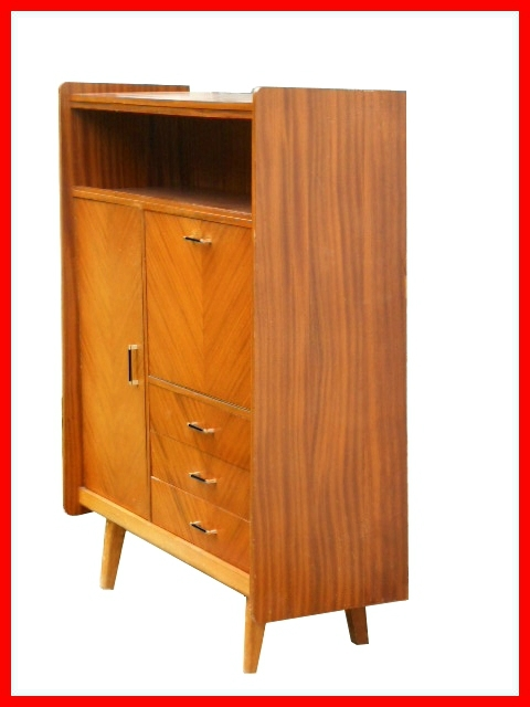 Armoire secretaire buffet bar vintage annees 50 vendu for Meuble buffet annee 50
