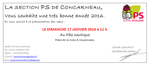 Invitation voeux PS 2016