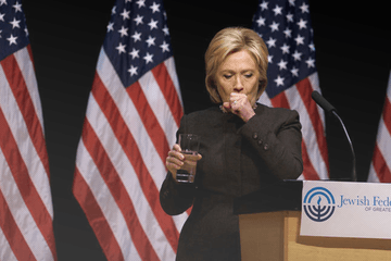 Hillary Clinton coughing