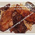 Filets de boeuf & aiguillettes de poulet grillés au sésame