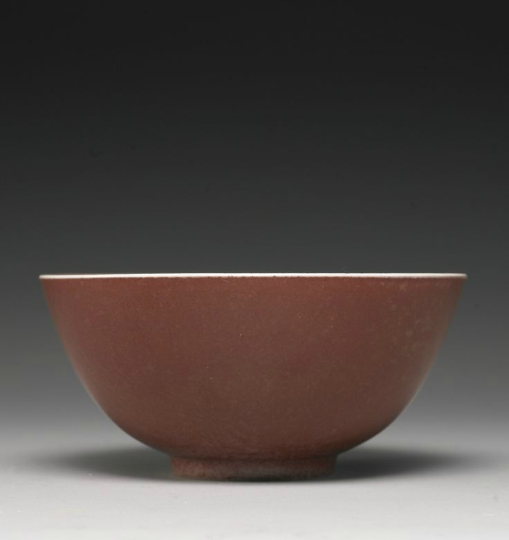 A peachbloom-glazed bowl, Kangxi mark and period