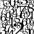 number Lace cardstock