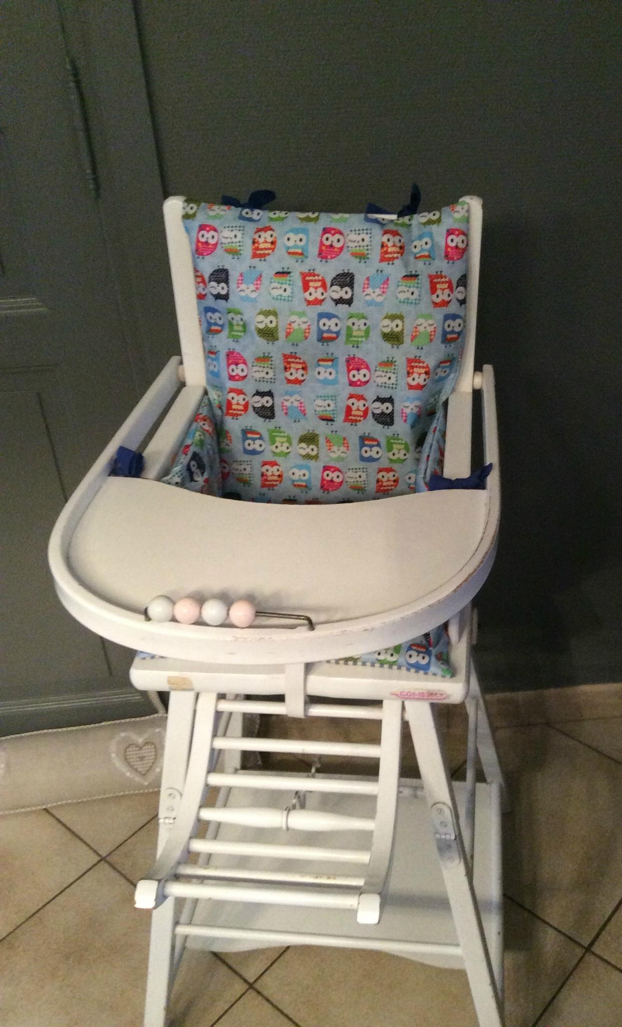Coussin de chaise haute hiboux