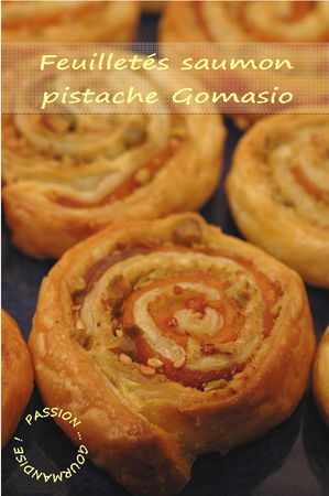 Feuilleté saumon fumé-pistache-Gomasio