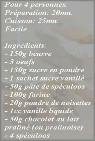 recette cake praliné-spéculoos