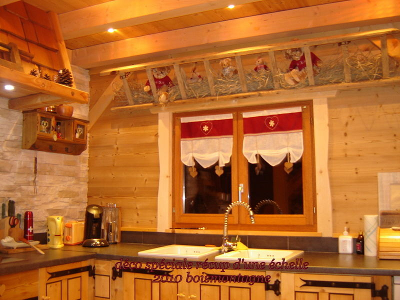 D coration cuisine chalet montagne for Decoration maison montagne