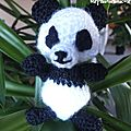 Faire un amigurumi panda au crochet 
