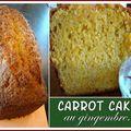 Carrot cake au gingembre