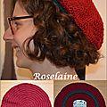 Roselaine 13 Adriafil crochet béret