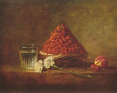 Jean Siméon Chardin - Nature Morte avec panier de fraises