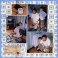 Jouer à la play station avec Papou