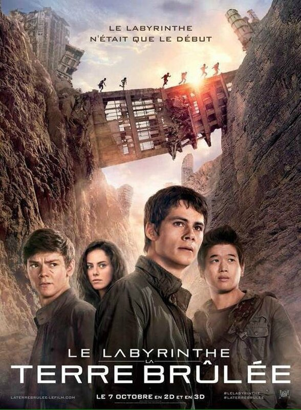 La Terre Brûlée The Maze Runner french movie poster