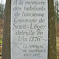 B8 - Rappel du village disparu de St Léger