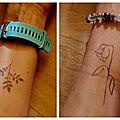 {on a testé} les tatouages éphémères au jagua