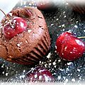 Muffins chocolat-cerise & huile d'olive