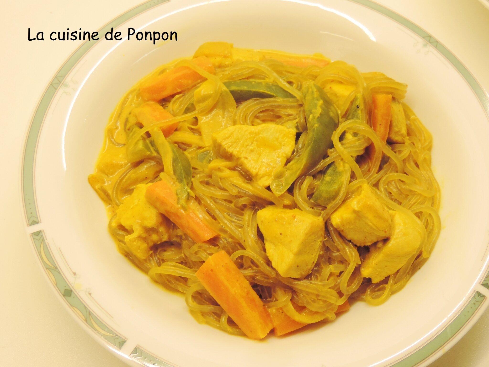 Poulet Au Curry Jaune Et Nouilles De Patates Douces La Cuisine De