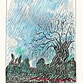 La pluie - dessin et haïku du jour n°100